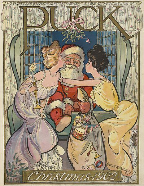 Imaxe da revista Puck de nadal de 1902