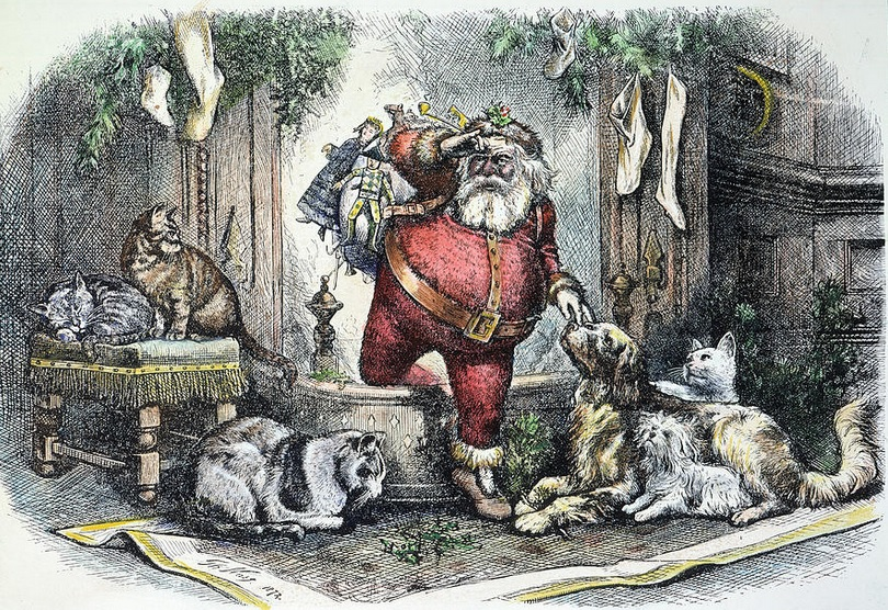 Ilustración de Thomas Nast, 1872 coloreado.