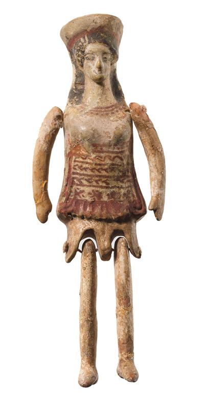 Boneco articulado de terracota da Grecia antiga (MET NY) s IX aC