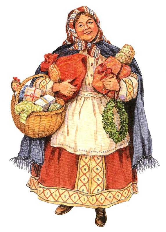 Babushka, a avoa rusa que reparte doces e agasallos a nenas e nenos por ven se é o neno Xesús.