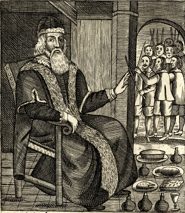 Father Christmas ilustración de The Examination and Tryal of Old Father Christmas 1658.