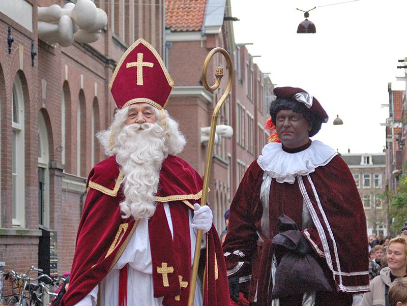 San Nicolás e Zwarte Piet ou Pedro Negro