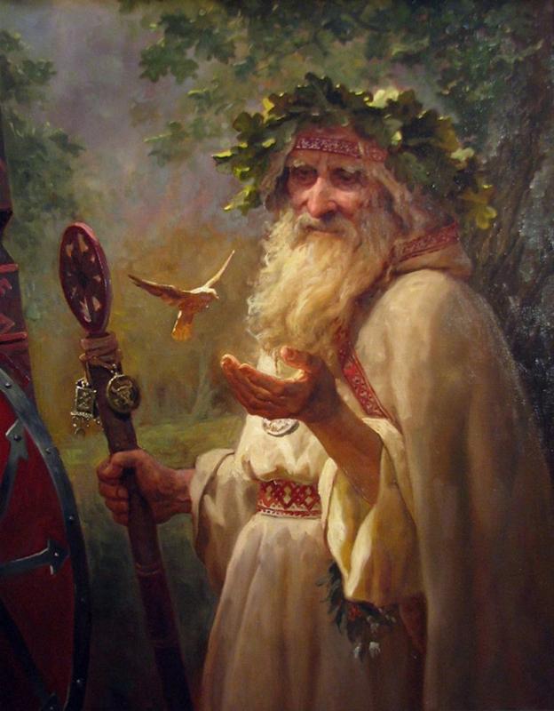 Imaxe do Father Christmas pintado por Andrey Shishkin