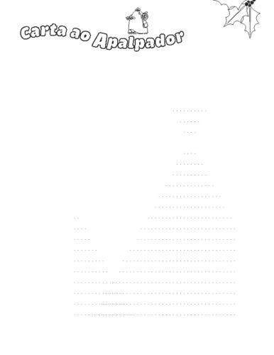 Carta en branco e negro