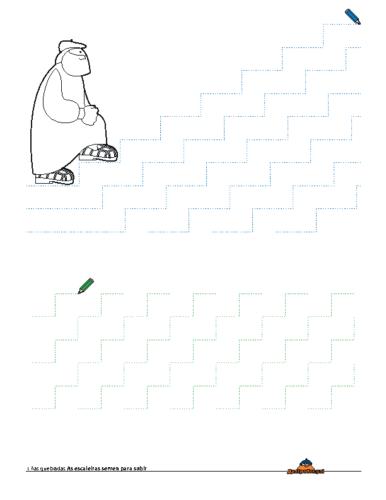 Grafomotricidade Escaleiras