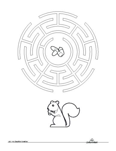Labirinto Esquio. Colorear