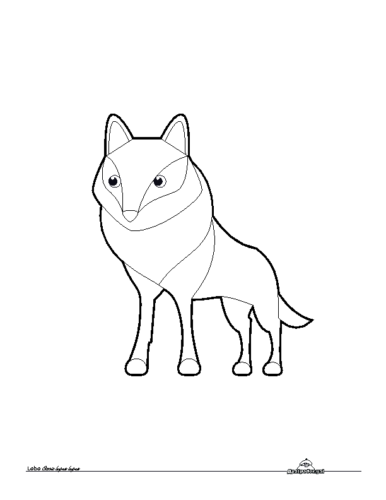 Lobo. Colorear