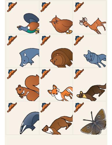 Tarxetas ou autocolantes (animais)